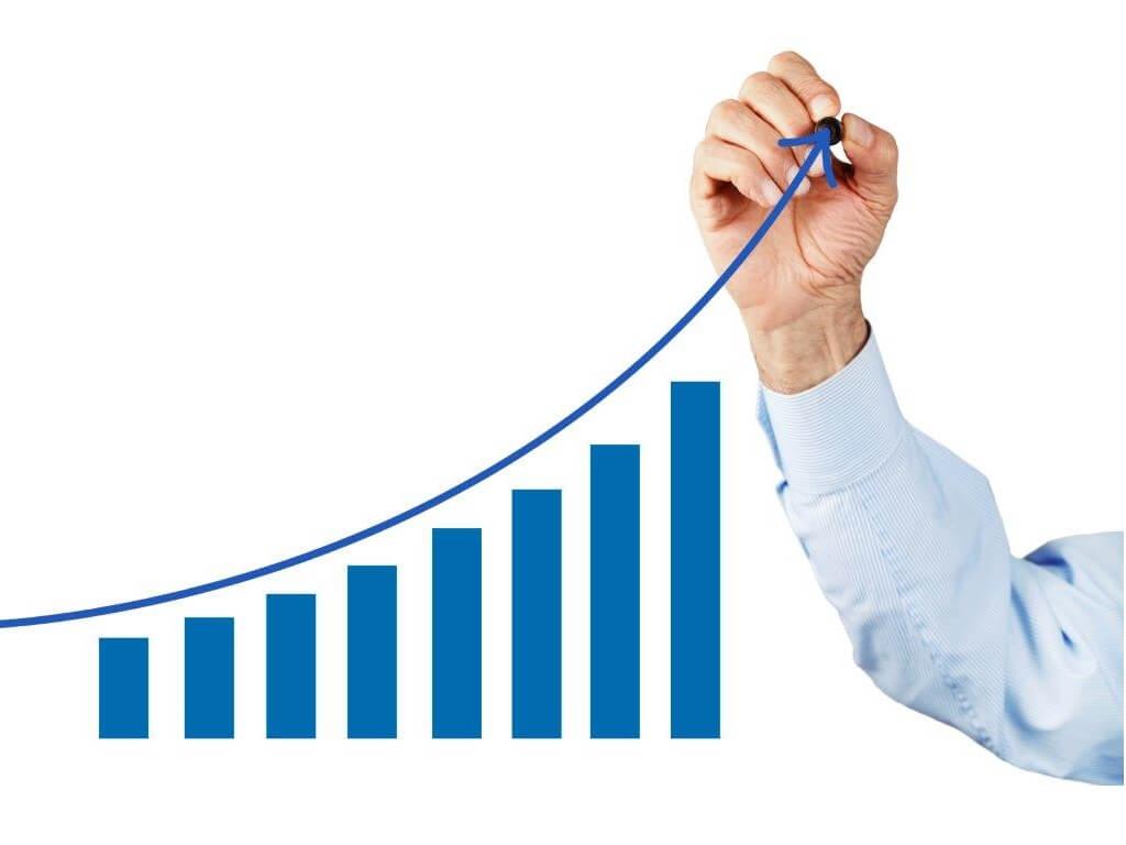 aumento das vendas